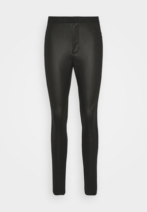 MOTO COATED MILANO  - Leggings - Trousers - black