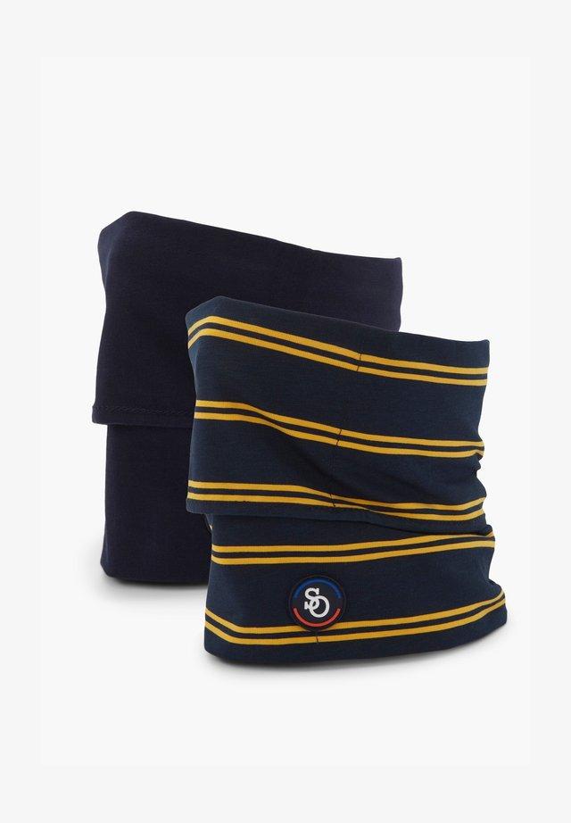 2ER-SET - Snood - navy uni & yellow stripes