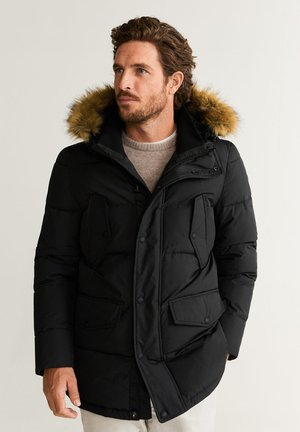 WASSERABWEISENDER ANORAK MIT ABNEHMBAREM KUNSTFELL - Winter jacket - schwarz