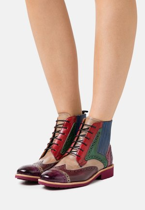 AMELIE  - Lace-up ankle boots - purple flame/pale lila/burgundy/electric blue/fuxia/navy/rich tan