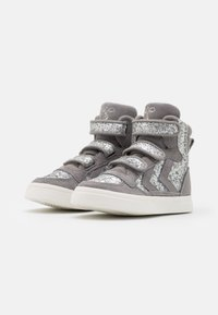 Hummel - STADIL GLITTER - High-top trainers - alloy - 1