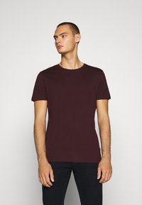 Burton Menswear London - SHORT SLEEVE CREW 7 PACK  - T-shirt basic - black/white/charcoal/navy/burgundy/dusty olive - 1