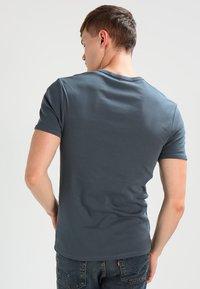 G-Star - BASE V T S/S SLIM FIT 2 PACK - T-shirts basic - dark slate - 2