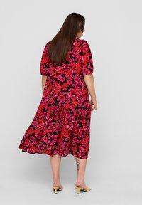 Zizzi - Maxi dress - red flower aop - 1