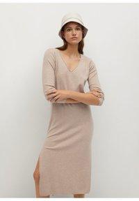 Mango - ROLLY - Jumper dress - light/pastel grey - 0