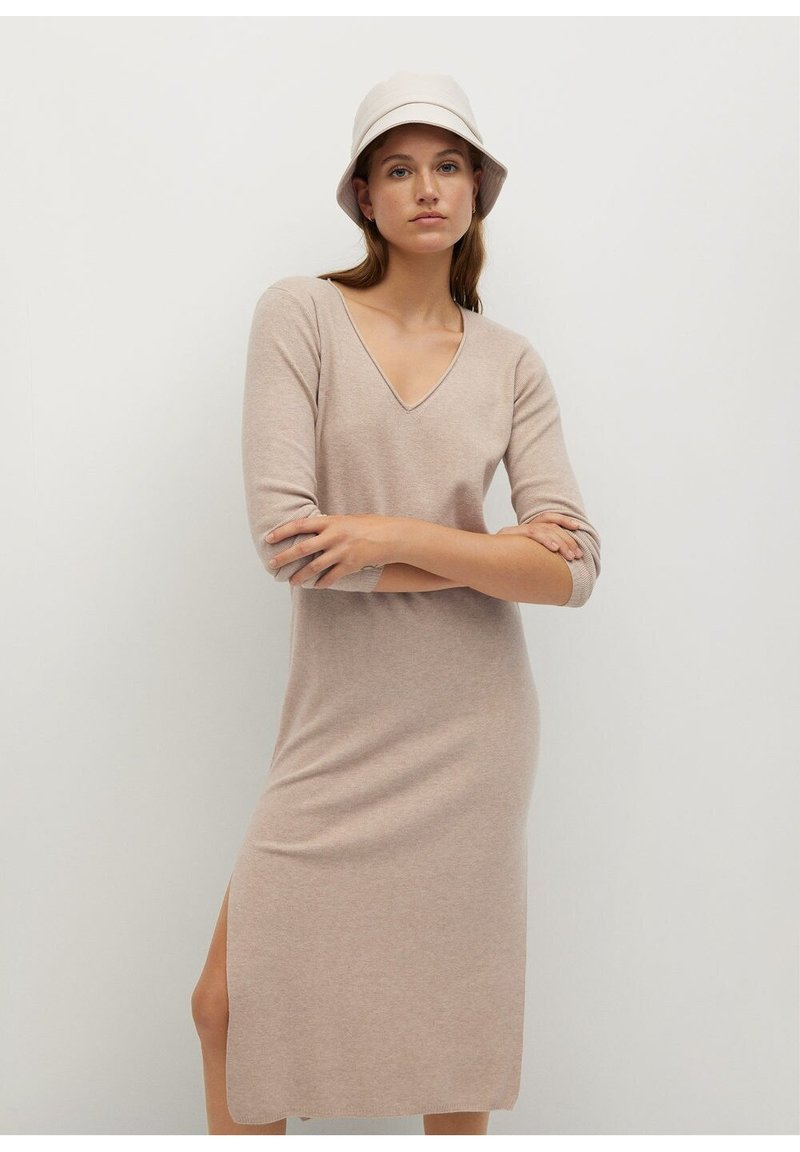 Mango - ROLLY - Jumper dress - light/pastel grey