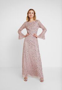 Adrianna Papell - BEADED LONG DRESS - Occasion wear - cameo - 2