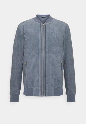 RIVER UP - Leather jacket - denim blue