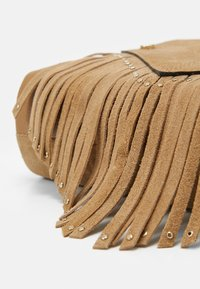 River Island - TASSEL STUD XBODY - Across body bag - beige