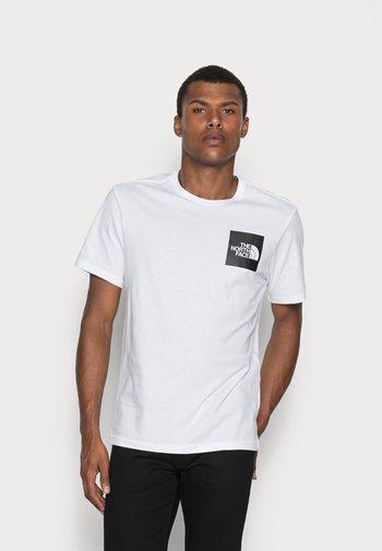 FINE TEE - T-shirt med print - white/black