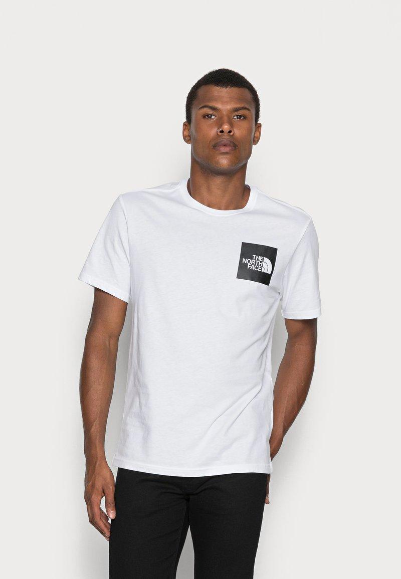 The North Face - FINE TEE - Camiseta estampada - white/black