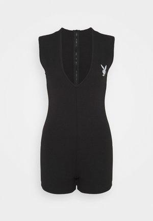 PLUNGE LOGO UNITARD - Jumpsuit - black