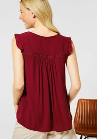 Street One - IN UNIFARBE - Blouse - rot - 2