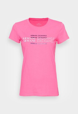 T-shirt print - pink note