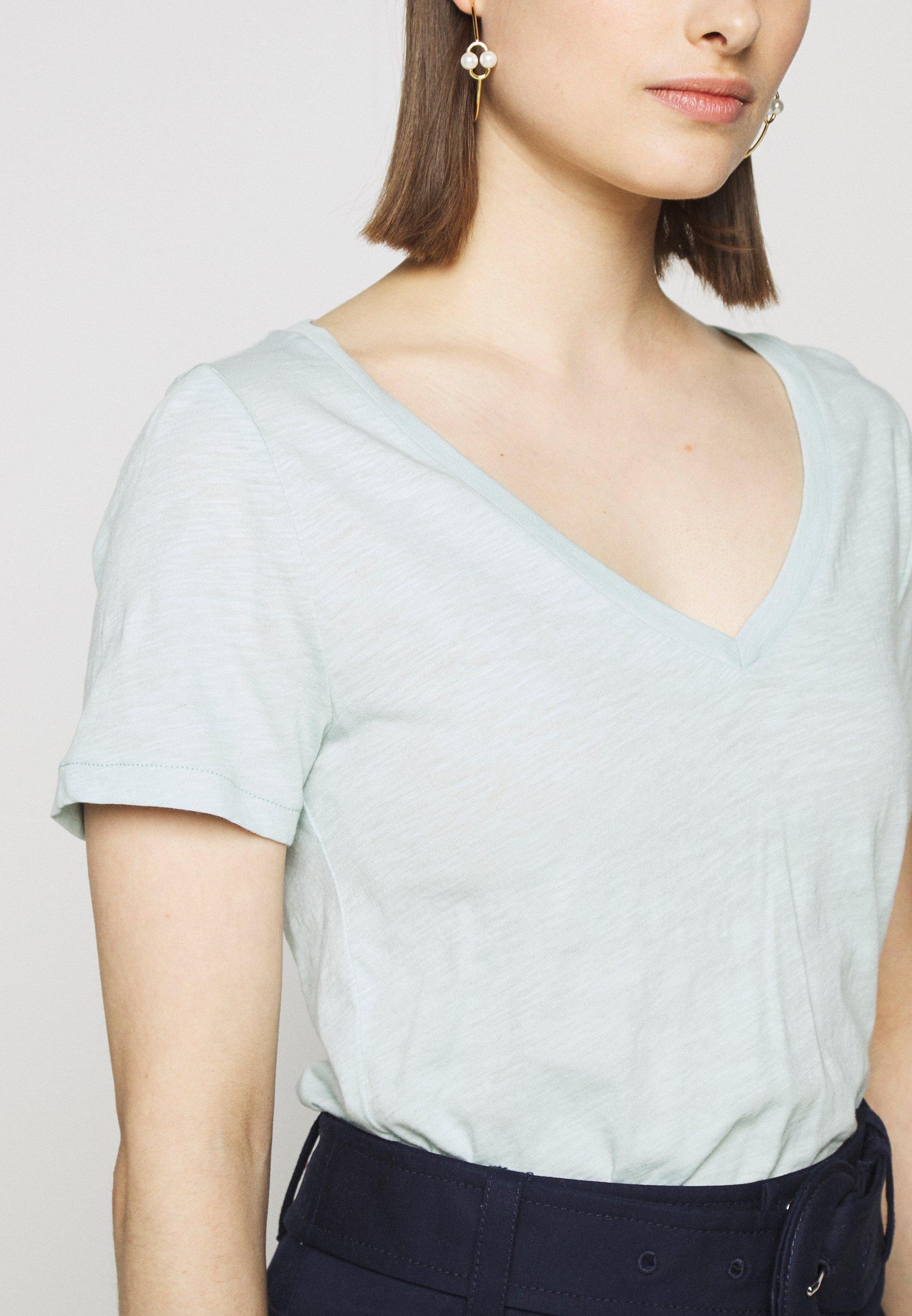 J.crew Vintage V Neck Tee - T-shirts Faded Mint/blågrå