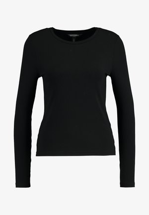CREW NECK SOLIDS - Long sleeved top - black