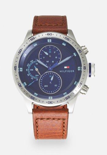 TRENT - Watch - brown/blue