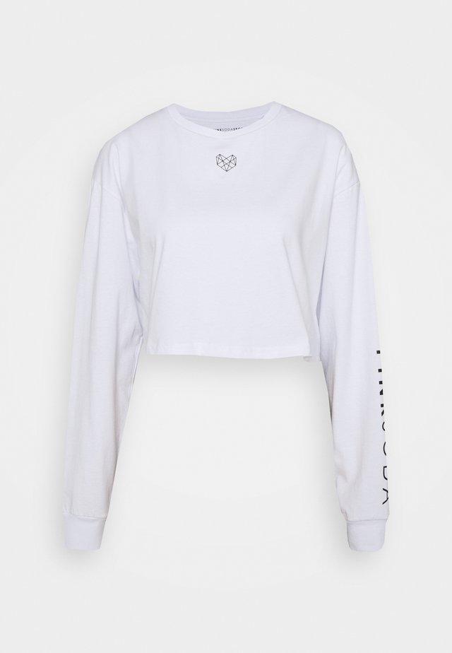 PURDY CROP - Pitkähihainen paita - white
