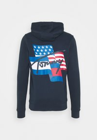 Tommy Jeans - FLAG GRAPHIC HOODIE - Sweat à capuche - twilight navy - 1