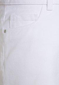Next - FRAYED HEM  - Denim shorts - white - 2