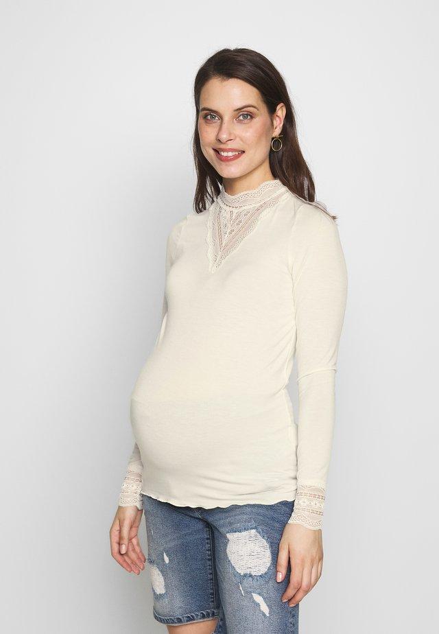 MLREESE - Langærmede T-shirts - whisper white