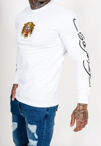 Ed Hardy - TIGER LOS LONG SLEEVE T-SHIRT - Long sleeved top - white - 4