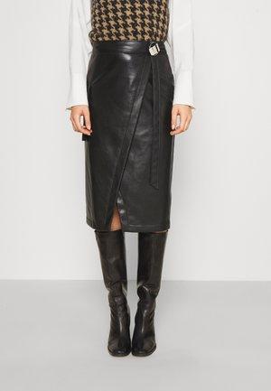 REMALI - Wrap skirt - black