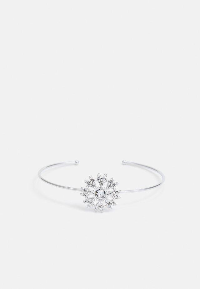 LEVETTA LOVE BLOSSOM ULTRA FINE CUFF - Bracciale - silver/crystal