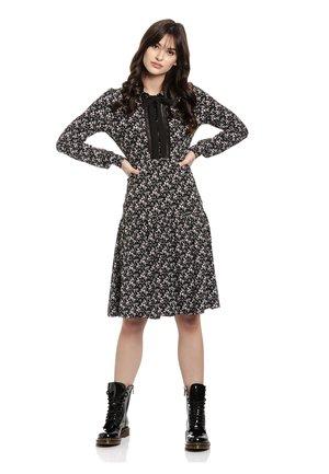 FRENCH FLOWER DRESS - Jersey dress - schwarz allover