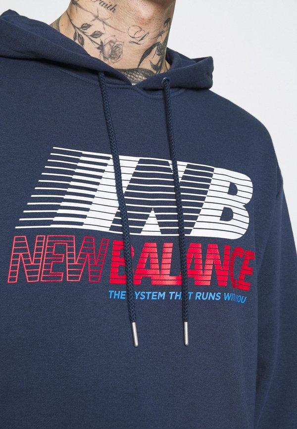 New Balance HOODIE - Bluza - natindgo/granatowy Odzież Męska AVQK