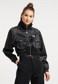 myMo - CROPPED - Light jacket - schwarz - 0