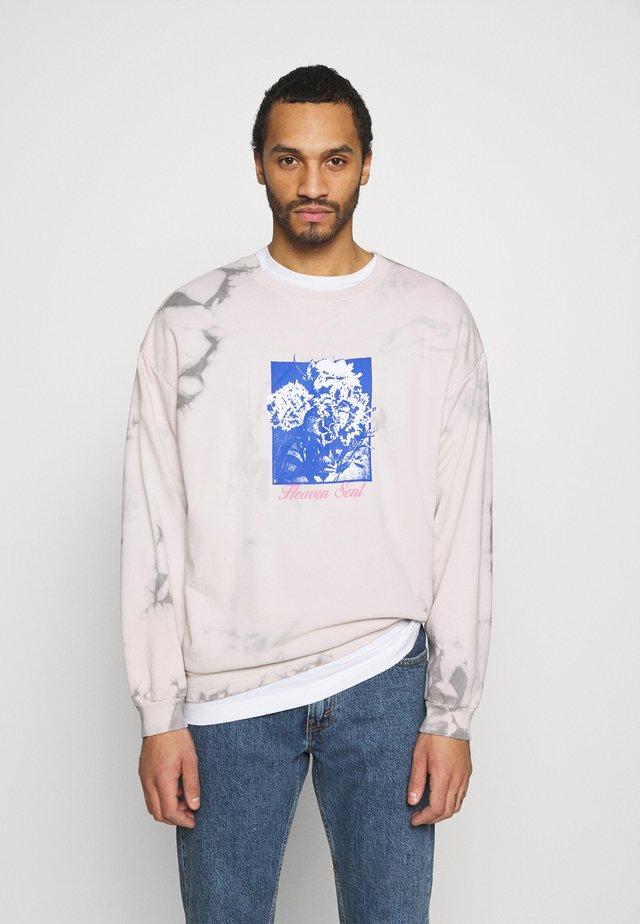 HEAVEN SENT TIE DYE CREW UNISEX - Sweatshirt - beige