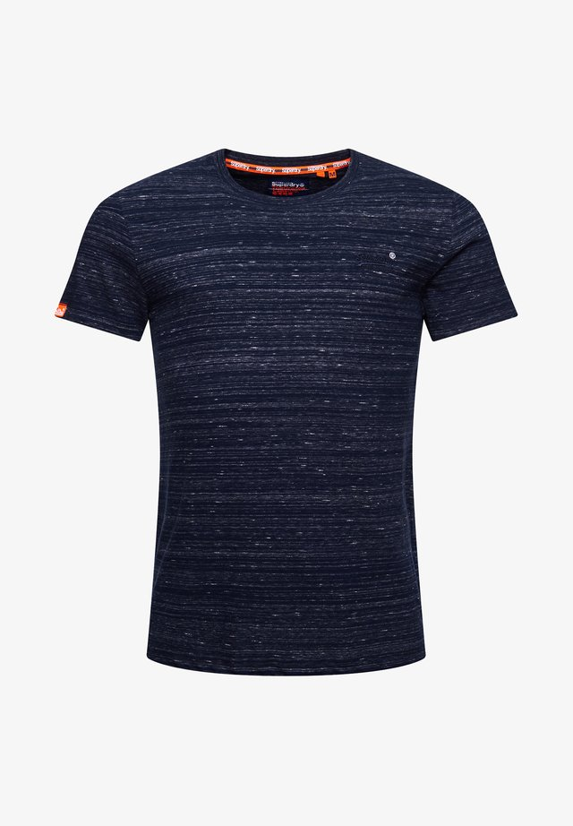T-shirt basic - midnight navy space dye