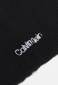 Calvin Klein - BASIC NO FOLD BEANIE UNISEX - Pipo - black - 4