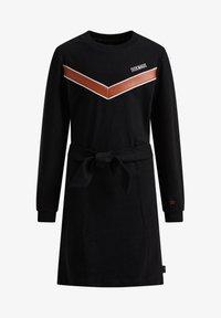 WE Fashion - Gebreide jurk - black - 3