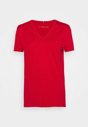 NEW VNECK TEE - Basic T-shirt - primary red