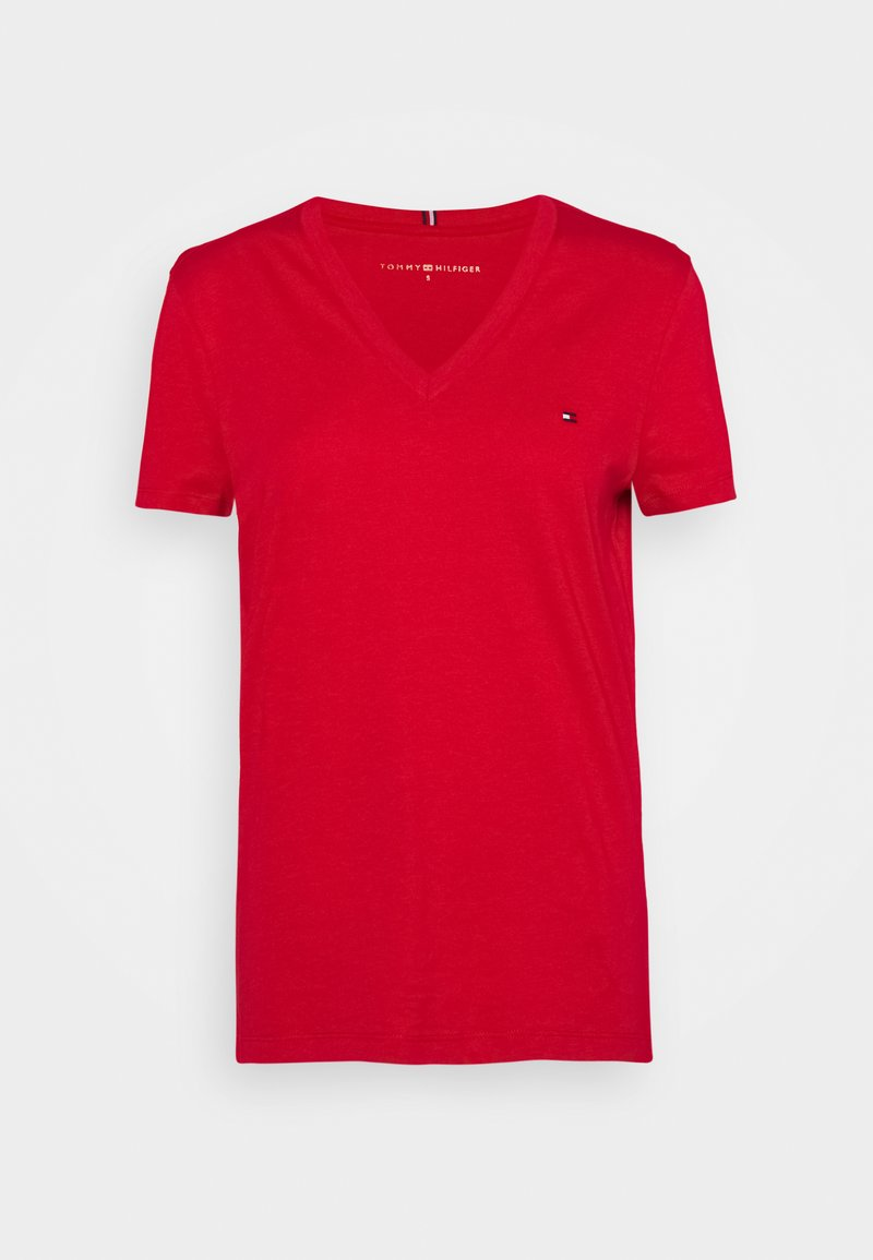 Tommy Hilfiger - NEW VNECK TEE - T-paita - primary red