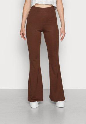 WILDA TROUSERS - Spodnie materiałowe - dark brown