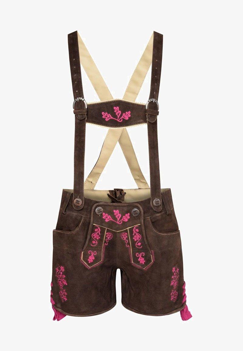 Almsach - Leather trousers - braun