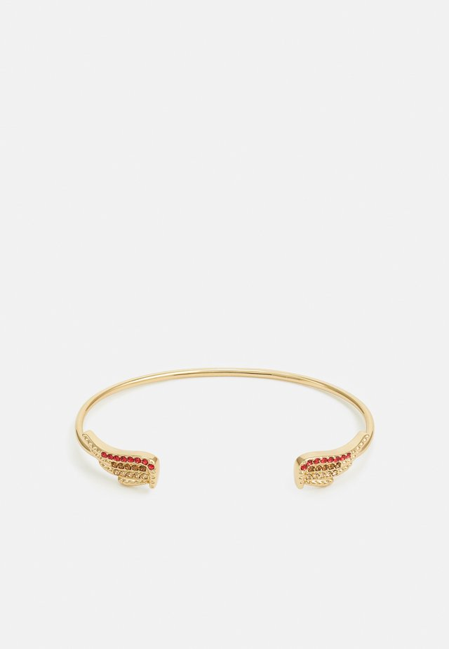MILA TWIST CUFF - Armband - shiny gold-coloured