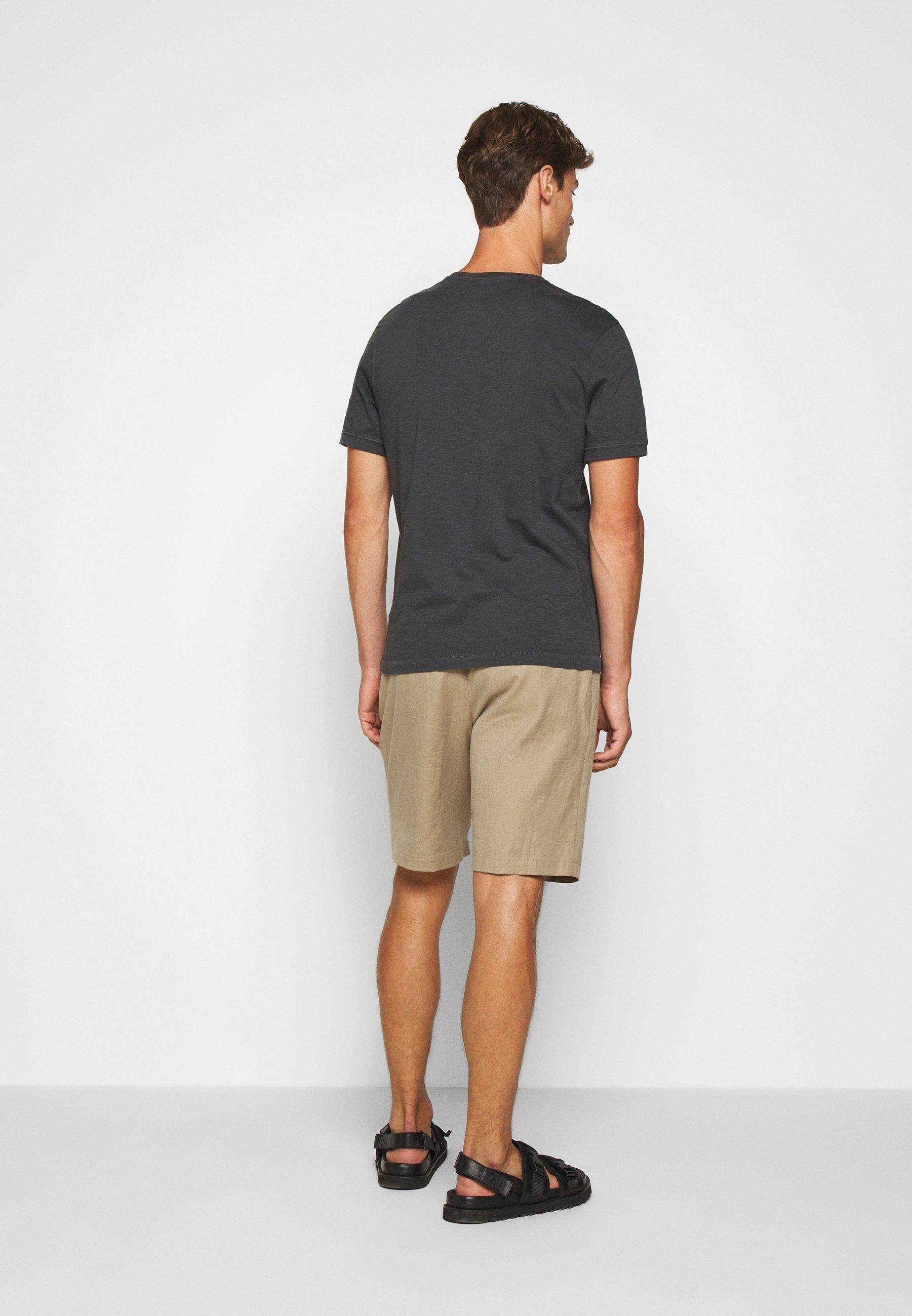J.CREW GARMENT DYE HENLEY - T-shirt basic - black - Odzież męska Tani