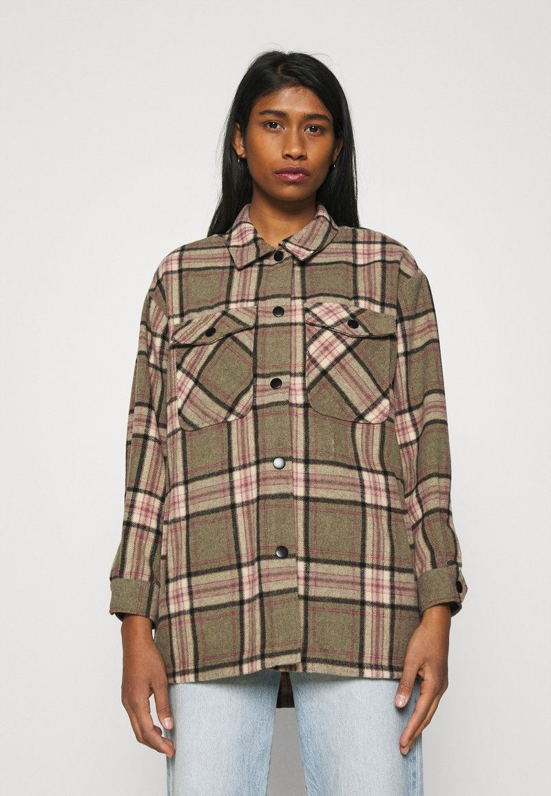 ONLY - ONLELLENE VALDA CHACKET - Summer jacket - balsam green/pink/black