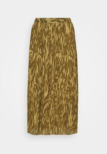 OBJZANIA SKIRT - A-line skirt - khaki/animal