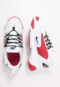 Nike Sportswear - ZOOM  - Sneakers - white/black/gym red - 1