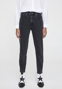 PULL&BEAR - Slim fit jeans - mottled dark grey - 0
