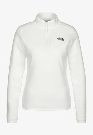 W 100 GLACIER 1/4 ZIP - EU - Felpa in pile - white/ black