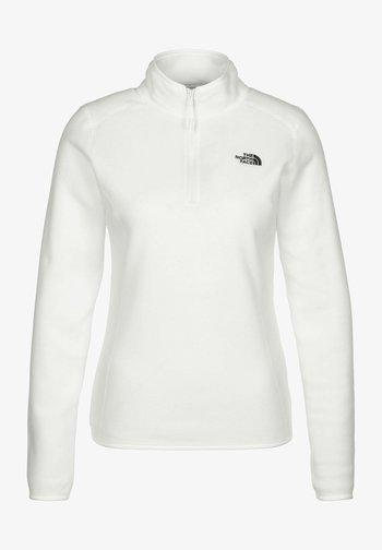 Fleece jumper - white/ black