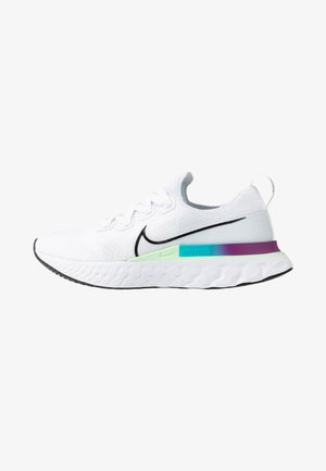 EPIC PRO REACT FLYKNIT - Neutrale løbesko - white/black/vapor green/oracle aqua