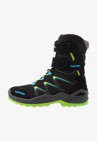 Lowa - MADDOX WARM GTX - Winter boots - black/lime - 1