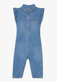 Levi's® - RUFFLE SLEEVE UTILITY - Jumpsuit - blue - 0